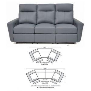 Omnia Leather Venus Conversation Sofa