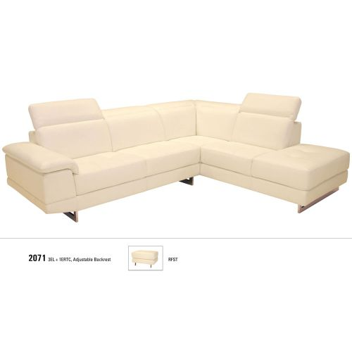 J&M Furniture 2071 Italian Leather Sectional