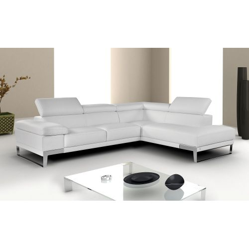 "J&M Furniture ""Nicoletti"" Premium Leather Sectional"